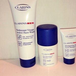 NEW CLARINS  MEN'S GROOMING 3 PIECE SET
